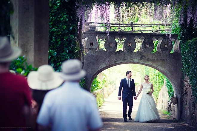 Wedding Photographer in Ravello, Amalfi Coast. Leah & Cj get married. Andrea Corsi intimate wedding photographer in Italy.