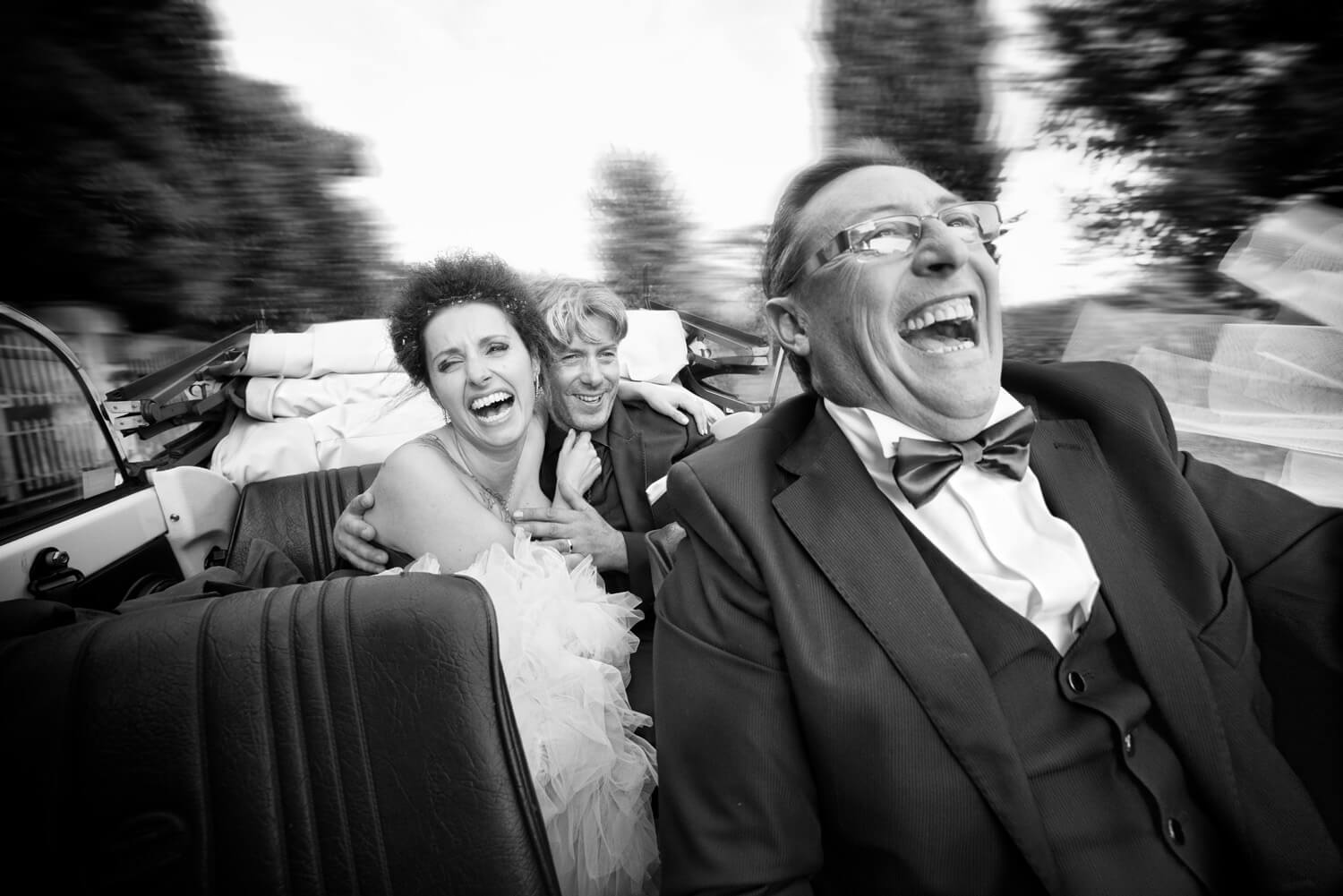 Funny Moments at wedding day. Bride CAr