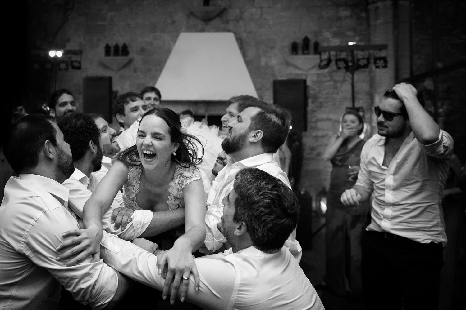 Wedding dance in Tuscan Castle