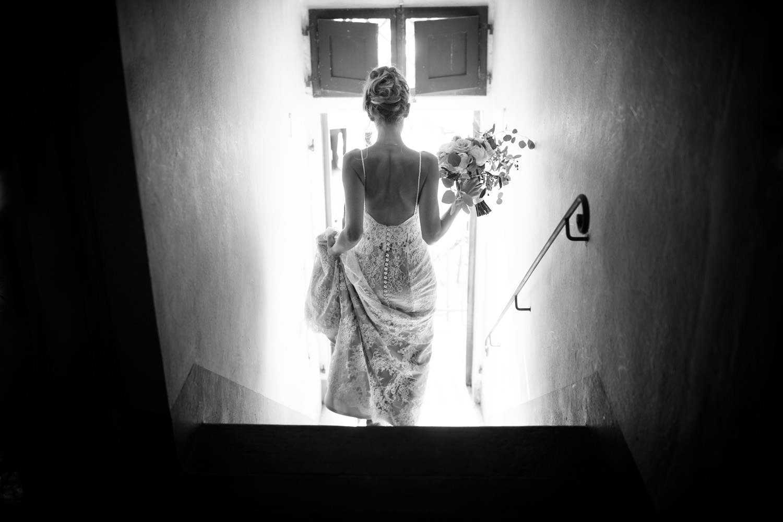 Beautiful Bride in Tuscan Villa