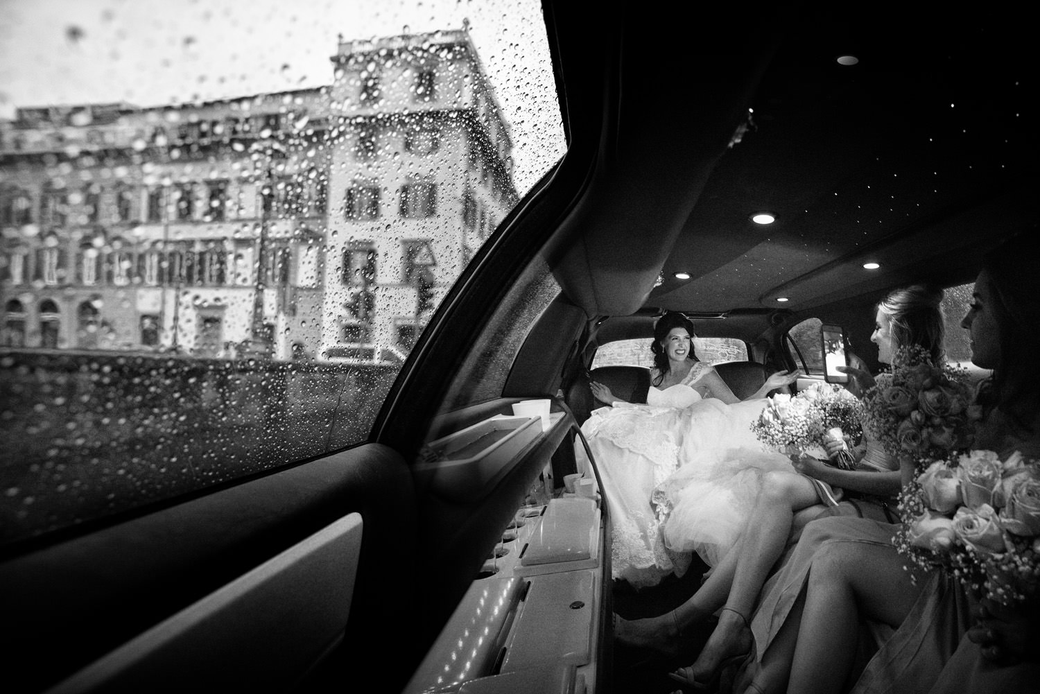 Wedding in Florence in Limousine.