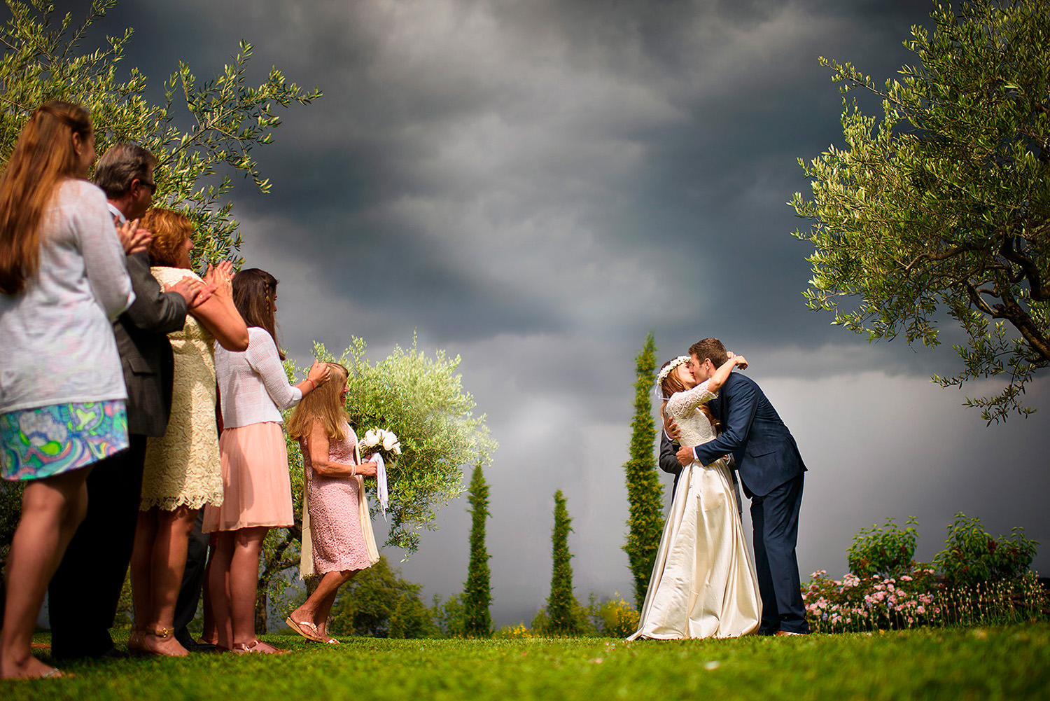 intimate ceremony, Le Lappe, Tuscany