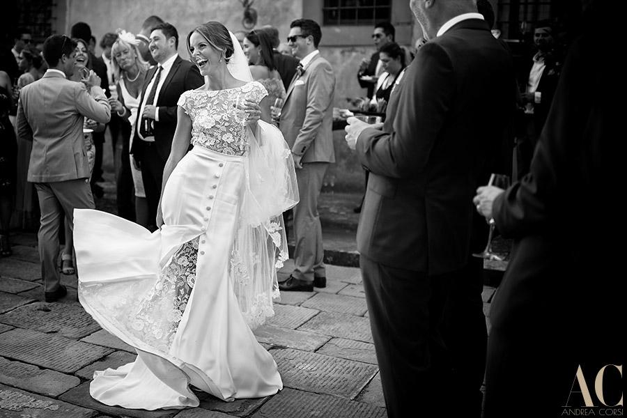 Bride dress Tuscany